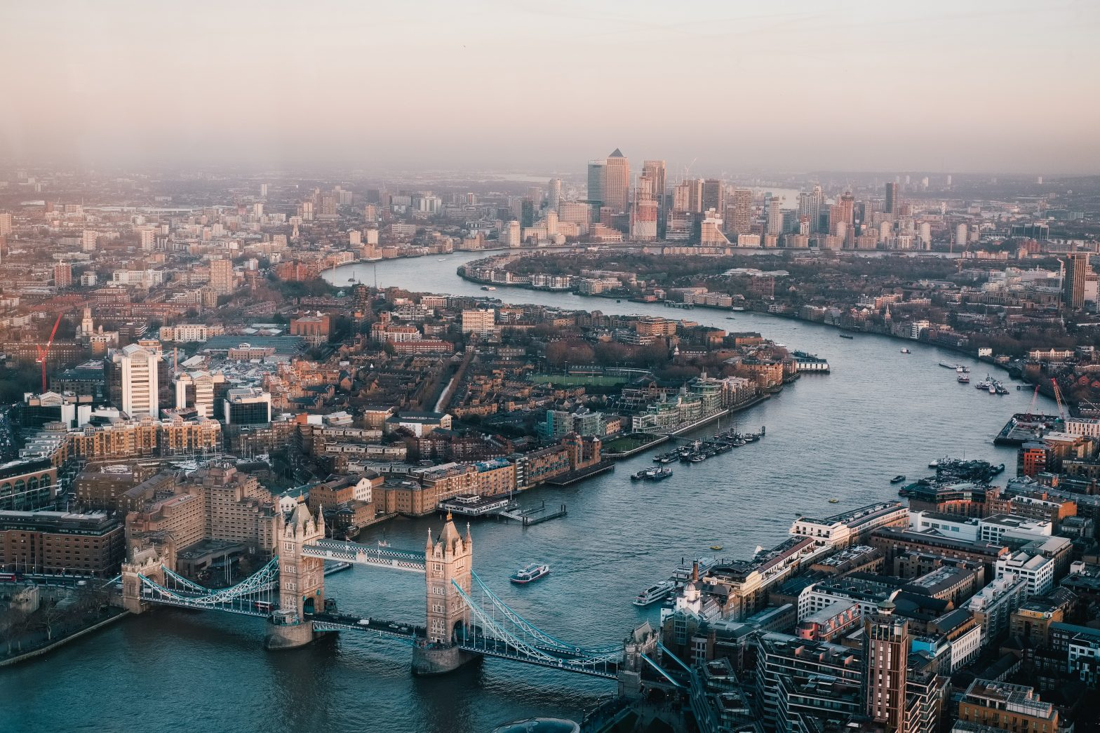 aerial view london benjamin davies