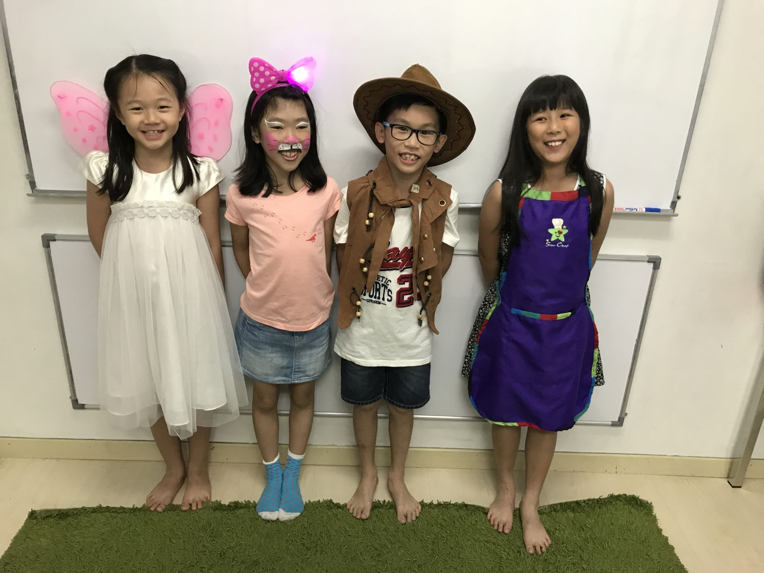 children in fancy dress